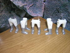 ( A 12 / 13 ) 5 x Jambes blanc en argent Bottes Garde Soldats ACW Western