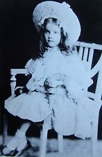 MARLENE DIETRICH clipping 1905 toddler B&W photo Magdalene age 4 w/ hat