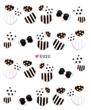 Nail Art 3D Sticker Water Decals Transfers Sweets Hearts (E020)