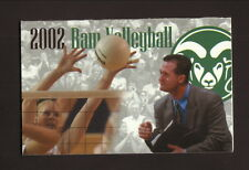Colorado State Rams--2002 Volleyball Pocket Schedule--Signs Now/Coors Light