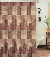 Paisley Patch Fabric Patchwork Shower Curtain