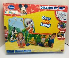 Disney Mickey Mouse Playhut Discovery Explore Hut Tent & Tunnel 4 Feet Long New