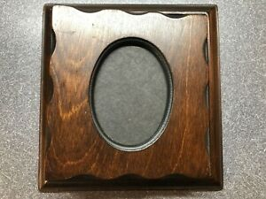 Vintage Wooden Photo Album Frame Cover Holds 10 Page Holds 20 Photos ~ Used