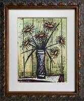 Bernard Buffet Limited Edition Lithograph Sunflowers *SIGN w/FRAME