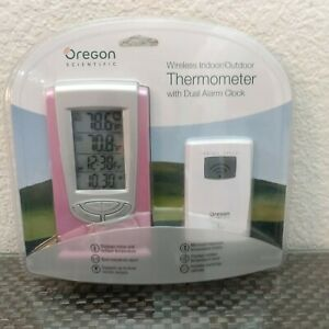 Oregon Scientific Wireless Indoor Outdoor Thermometer w/Dual Alarm Clock Digital