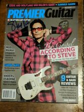 Steve Vai - Signed Premier Guitar Magazine with guitar pick