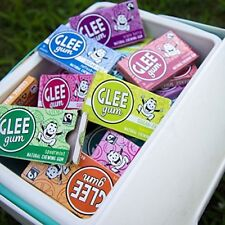 Glee Gum Chewing Bubblegum 16 Piece Package 6 Flavor Variety Pack All Natural