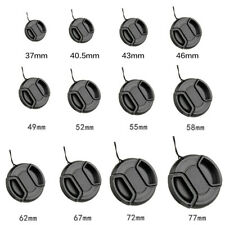 37~105mm Front Lens Cap Cover Center Pinch Snap On For Canon Nikon Sony 1PCS