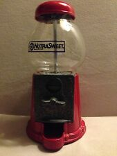 *RARE* 1980's NutraSweet Gumball Machine Glass Candy Dispenser Coin Antique