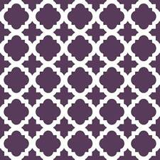 Moroccan Tile Craft Stencil- Size SMALL - By Cutting Edge Stencils