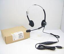 Jabra GN1900 USB Duo Flex Boom Professional Quality Noise-Canceling Headset BLK