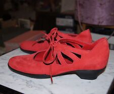 Arche Fojito Mid Heeled Red Nubuck Leather Shoe UK 6.5/39.5
