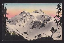 c1910 Hand Colored Mt. Shuksan from Mt. Baker Highway Washington postcard