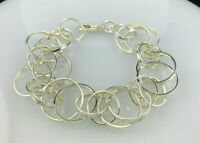 "Tiffany & Co Sterling Silver 1837 Interlocking Circles 8.75"" Bracelet"