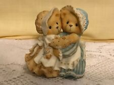 Enesco Cherished Teddies #534145 Sisters and Hugs Soothe The Soul Haley & Logan