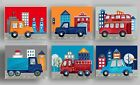 things that go bedding car truck BABY BOY NURSERY WALL ART prints pictures
