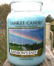 "Yankee Candle  22 oz .""RAINBOW'S END"" Rainbows End  ~ WHITE LABEL ~ NEW!"