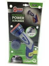 Quickie Household Power Scrubber Handheld Battery Powered Scrub Brush *Brand New