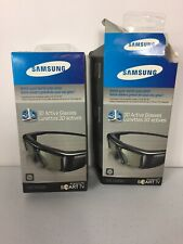 2 Pairs Samsung 3D Smart TV Active Glasses SSG- 3100GB - 1 Is New In Box, 1 Open