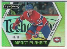 MAX PACIORETTY 2017-18 UD SYNERGY IMPACT PLAYERS # IP-43 GREEN CANADIENS 16 MADE