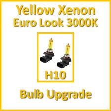 Warm White 3000K Yellow Xenon Headlight Bulbs Front Fog Light H10 42W (x2)
