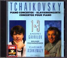 Andrei GAVRILOV & Valdimir ASHKENAZY TCHAIKOVSKY Piano Concerto No.1 & 3 EMI CD