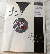New Vintage Elle Fashion Hosiery Christmas Collection 15 Denier One Size Tights