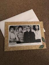 Queen Photo Greeting Christmas Card Blank Inside Freddie Mercury +4 Bohemian Rha