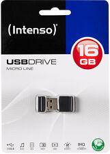 Intenso USB Stick 16 GB Micro Line Speicher Stick 16GB Mini schwarz