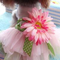 Dogs Gauze Tutu Dresses Skirt Pet Pumpy Cat Wear Princess Clothes Bowknot Dress