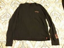 Levi's Red Tab  Black T-shirt Long Sleeves 100% Cotton Size XL Made in Portugal