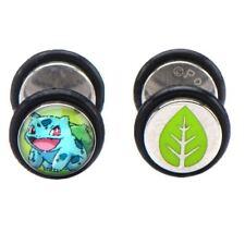 Stud Earrings Set - Pokemon Go Official Pokemon Bulbasaur Character Fake Plug