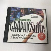 America Online's Graphic Suite Windows CD ROM Editing Software