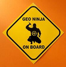 GEO Ninja On Board   Geocaching bumper sticker  GPS.