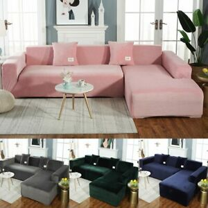 Sofa Cover Solid Color Elastic Universal Slipcover All-inclusive Couch Covers