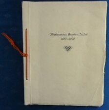 Mettmanner Seminarkursus 1889-1892, // Festschrift Lehrerkurs in Mettmann, 1931