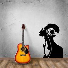 Wall Stickers Vinyl Decal Man in Headphones Music z1214