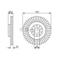 ORIGINAL BOSCH Bremsscheiben Satz Audi A8 94-02 - 0 986 479 589