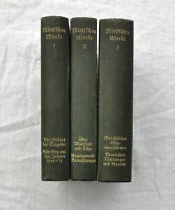 Friedrich Nietzsche Werke Klassiker Ausgabe Band 1 bis 3 Kröner Verlag