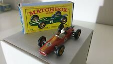 Matchbox/Lesney 1-75 Modellauto RW No.19d Lotus Racing Car 1965-70 mit OVP E4