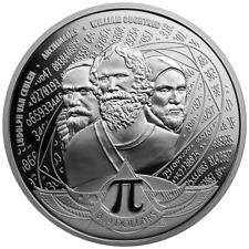 Salomon-Inseln 3,14 Dollar 2020 Kreiszahl Pi Premium-Anlagemünze 1 Oz Silber ST