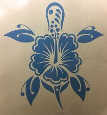 HIBISCUS AND TURTLE VINYL DECAL FOR LAPTOPS CARS WINDOWS WALLS Trucks, Surfboard