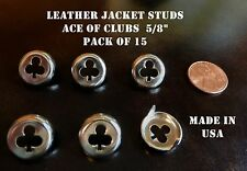 Leather Jacket studs ACE OF CLUBS 15 pk Rocker 59 Ace Cafe Racer  made in USA