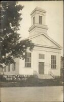 Gorham NY Church c1910 Real Photo Postcard