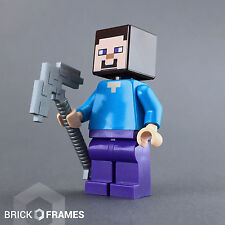 Lego Steve with Pick-axe Minifigure - Minecraft - BRAND NEW - 21119 21113