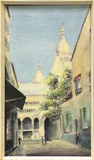 Watercolour by Charles Herbert Nicholson. Sacré-Coeur Montmartre.