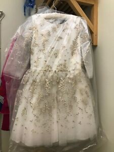 David Charles Ivory and Gold Dress for 10 years girl