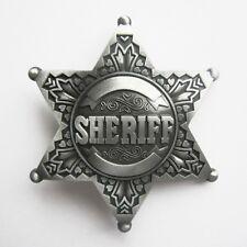 POLICE COPS SILVER SHERIFF LAW ENFORMENT WESTERN COWBOY BELT BUCKLE