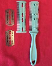 Small Animal Shredding Comb Blade Aqua Grooming Aid Dead Hair Remover Trimming