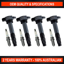 4x Ignition Coil & NGK Spark Plugs for Mitsubishi Lancer Outlander Grandis 2.4L